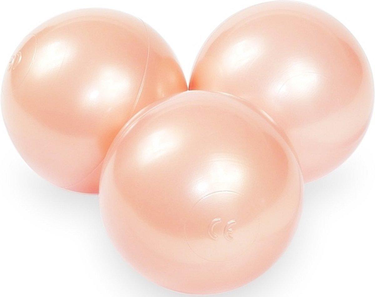 Ballenbak ballen goudroze (70mm) voor ballenbak 300 stuks