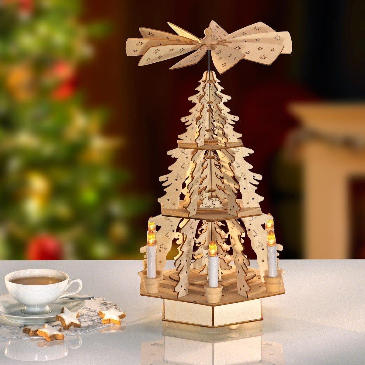 Kerstpiramide met leds kopen