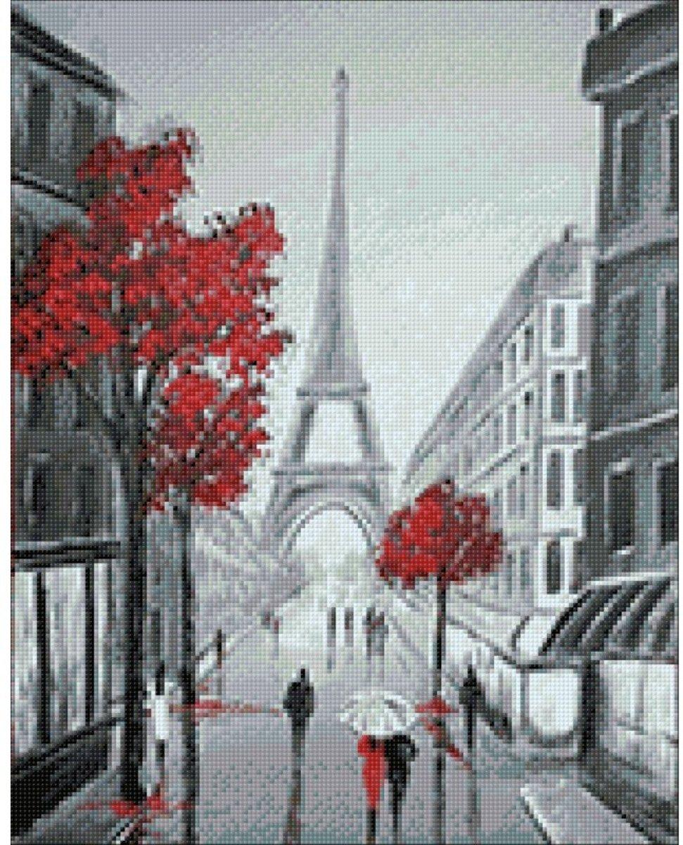 Afbeelding van product Wizardi Diamond Painting Kit Paris Sketches WD2344