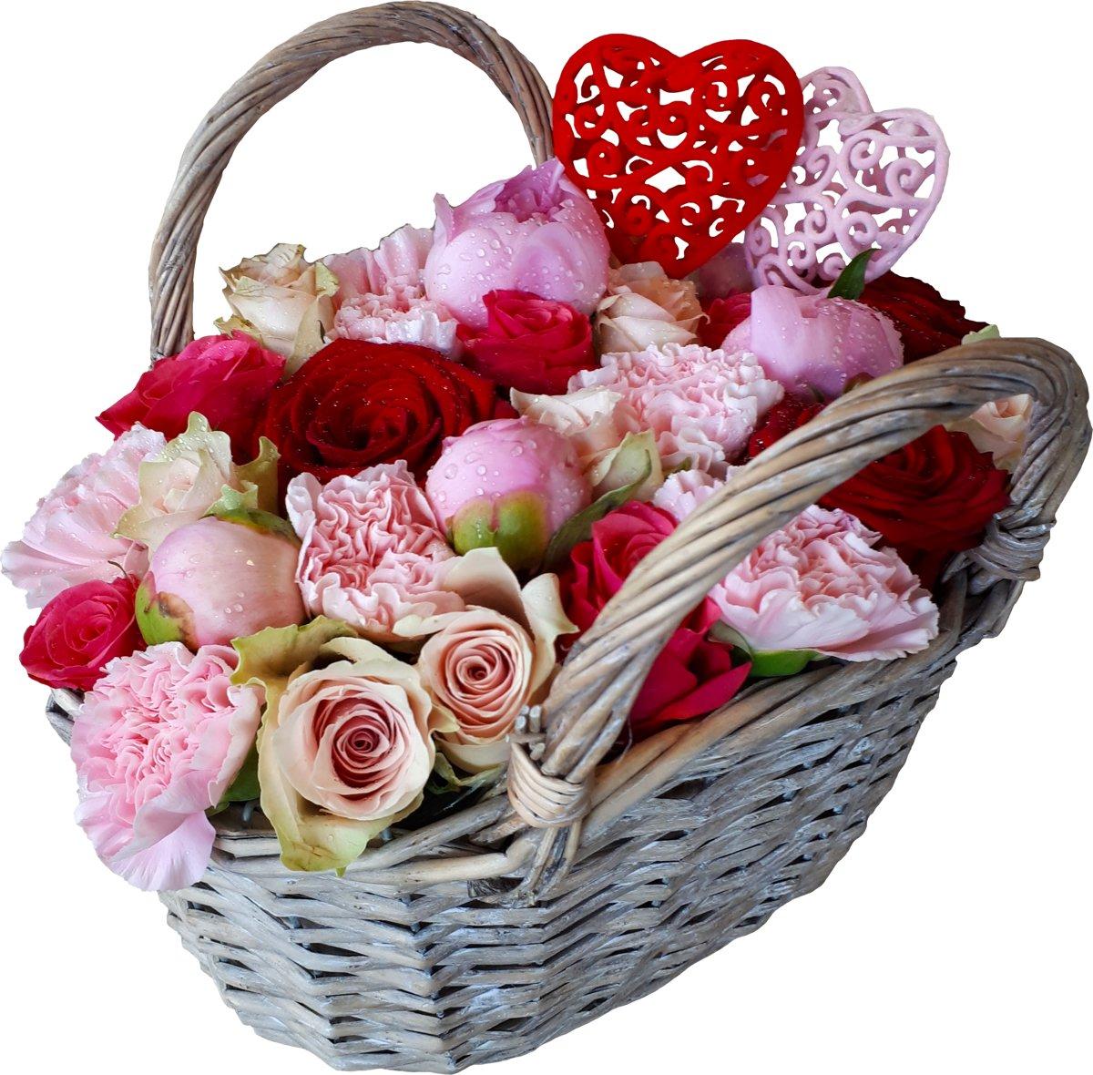 Bloemenhandtasje Met Echte Bloemen Verjaardag Moederdag Cadeau
