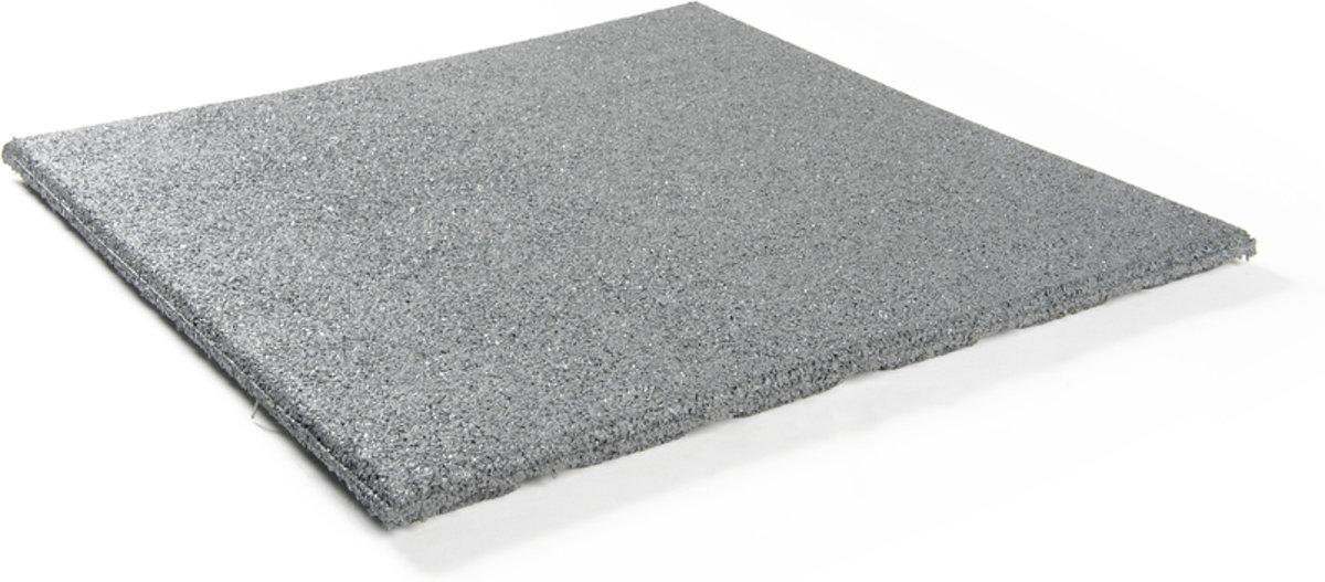 Granuflex rubber tegel grijs 500 x 500 x 25 mm kopen