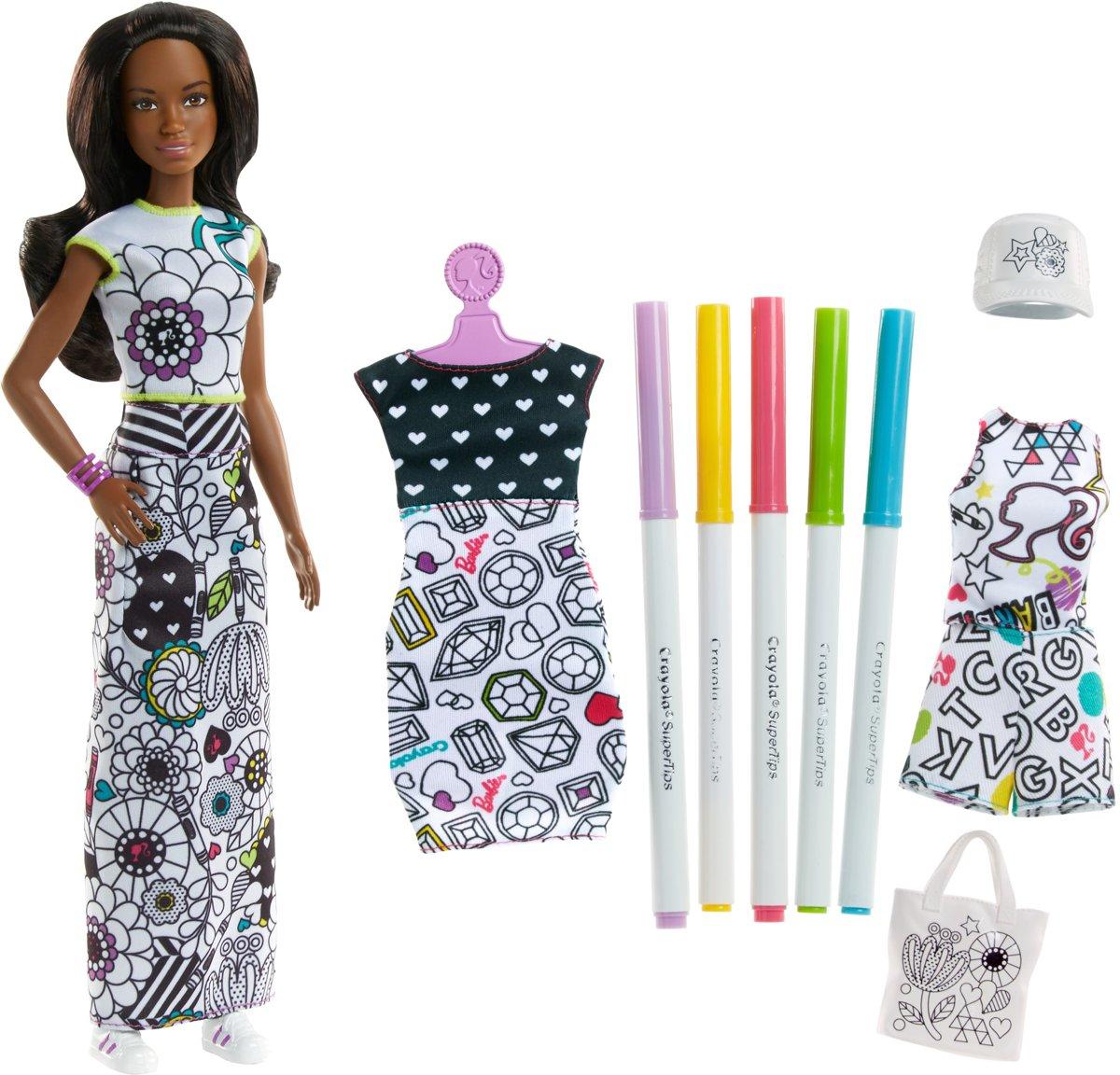 Barbie Crayola Inkleurfashions Afro American - Barbiepop