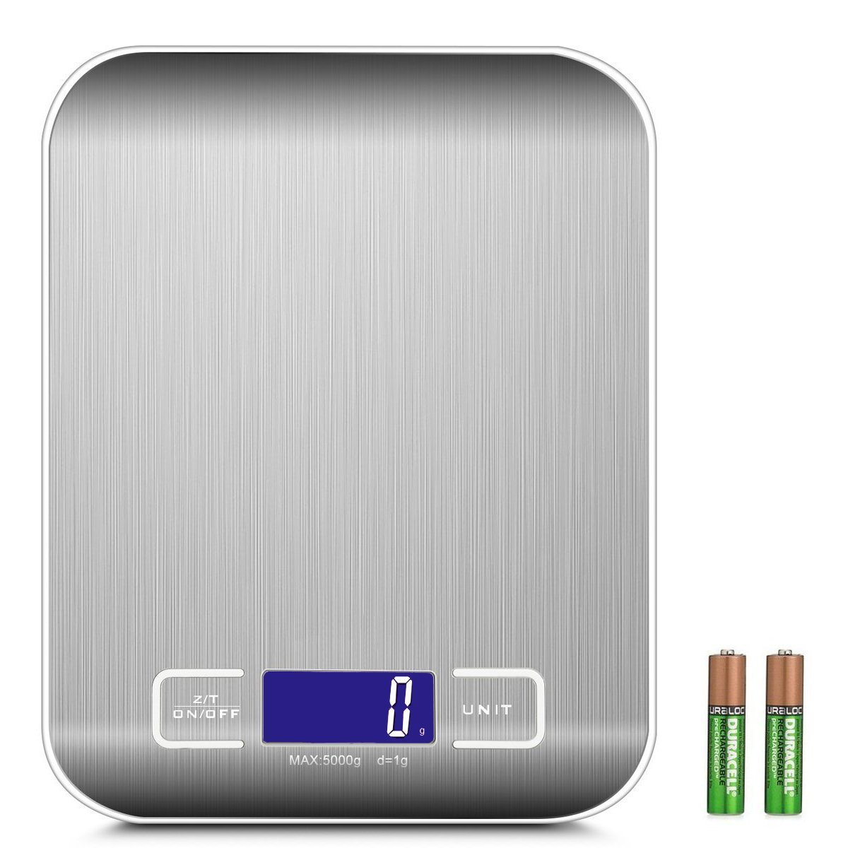 Digitale Precisie Keuken Weegschaal - Tarra Functie-Tot 5000 Gram ( 5kg )-Inclusief Batterijen
