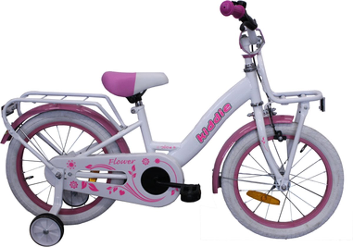 Kinderfiets Kiddie Dutch Bike (V-Brake + Cb) M 16'' 1N Wit