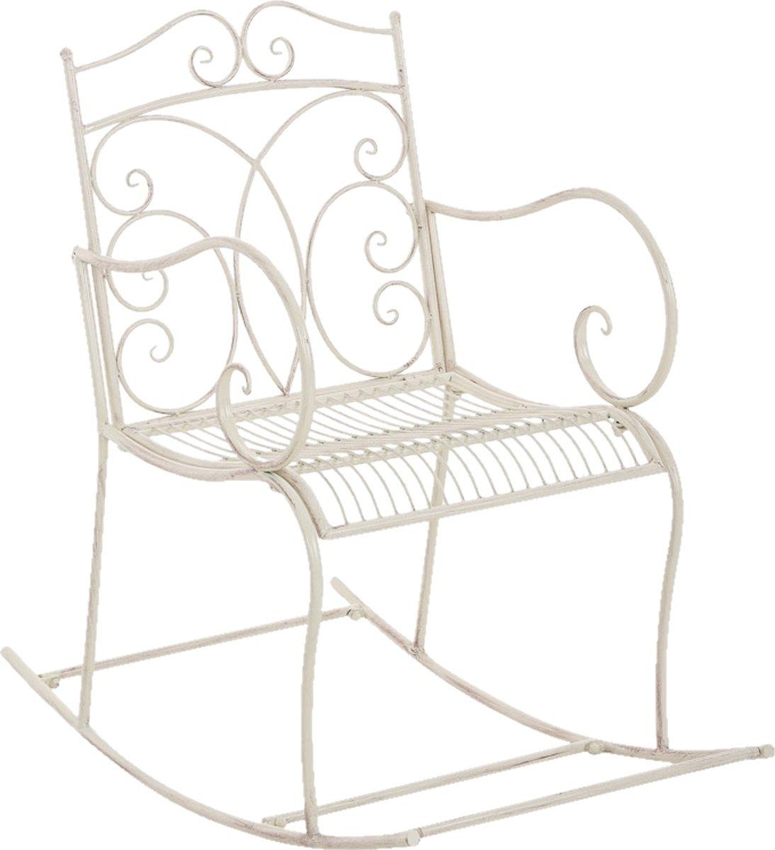 Clp Schommelstoel EDITH, tuinstoel, terrasstoel, balkonstoel, vintage, country live stijl, retro, nostalgisch, landhuisstijl, relaxstoel - antiek-crèm