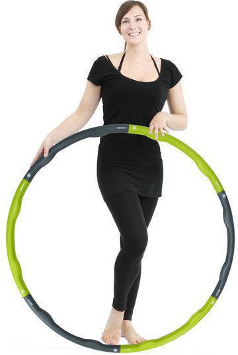 Weight hoop Original - Fitness Hoelahoep - Met DVD - 1.8 kg - Ø 100 cm - Groen/Grijs kopen