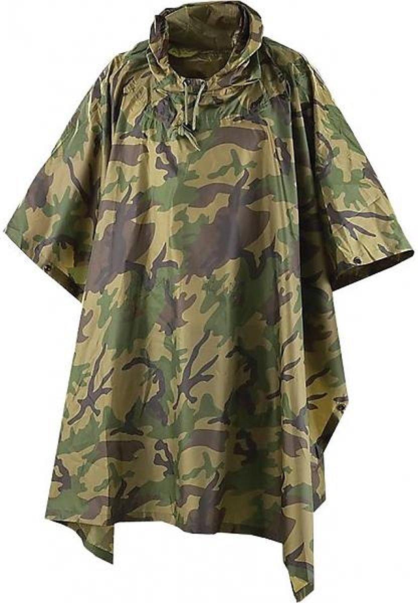 Veelzijdige poncho met capuchon - Camouflage kopen
