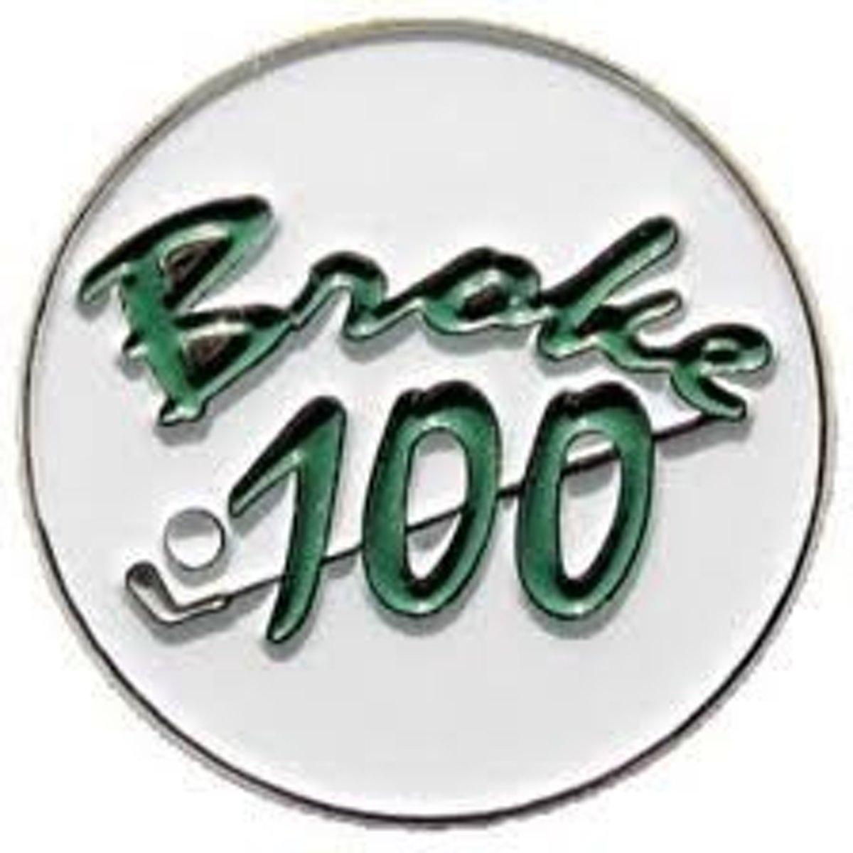 Golfbal marker 'Broke 100' kopen