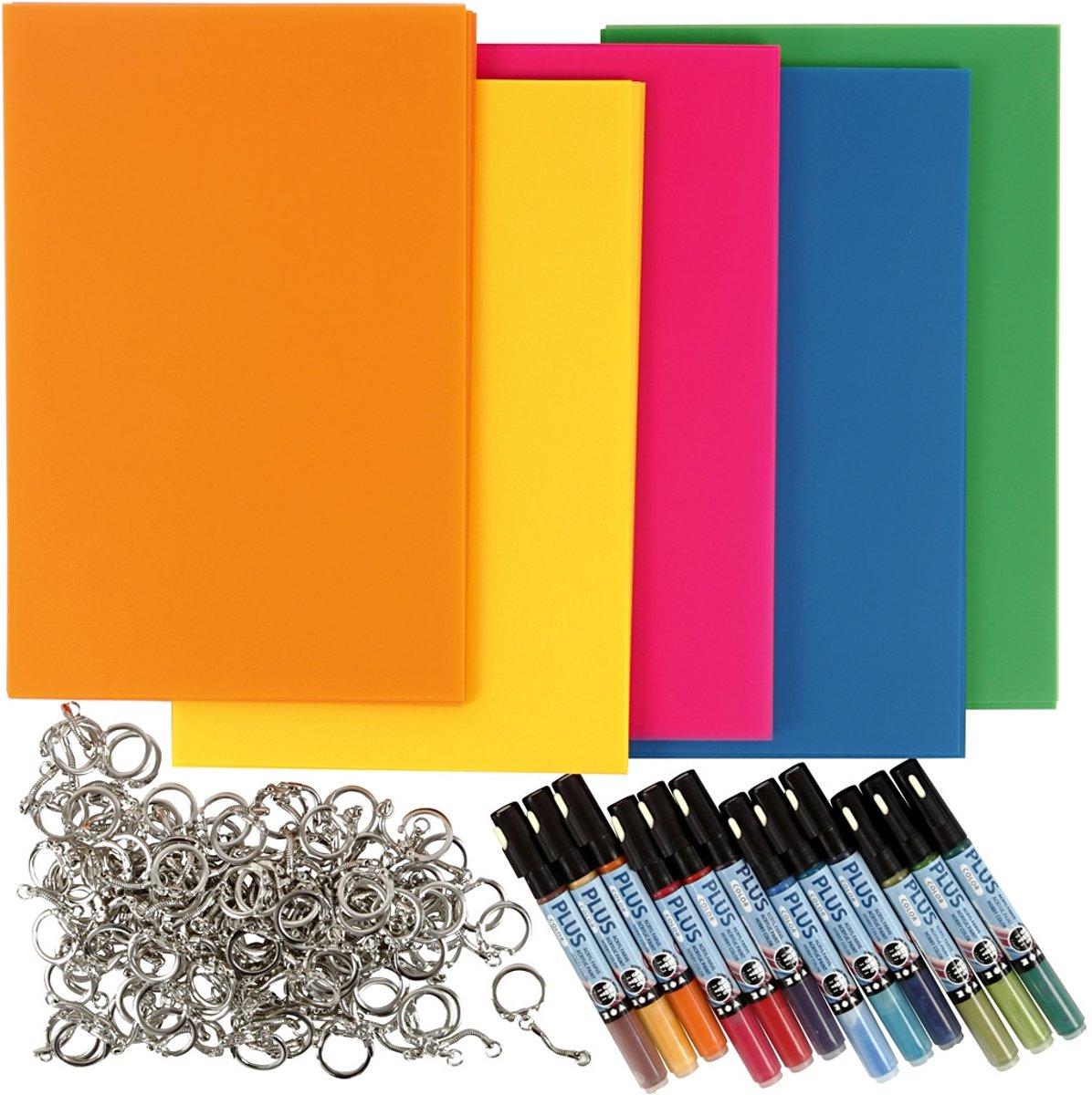 Afbeelding van product Hangers van krimpfolie, 1 set, kleuren assorti