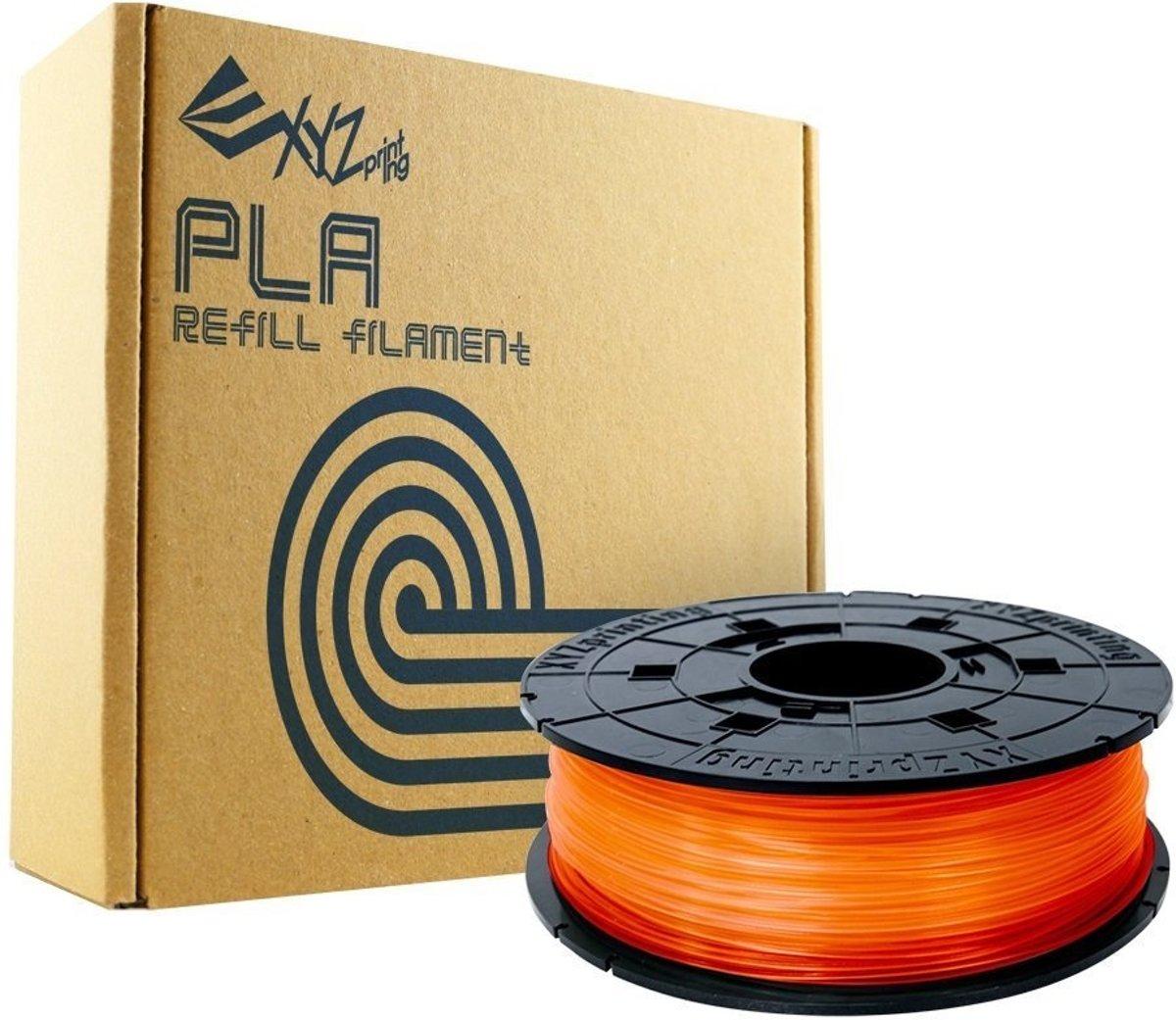 XYZprinting da Vinci REFILL PLA Clear Tangerine 600gr