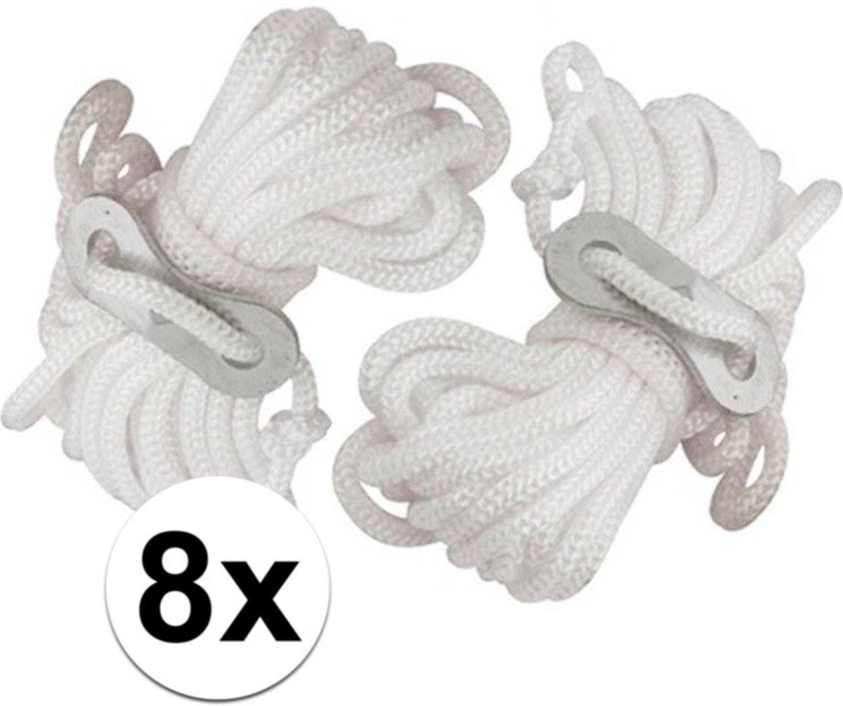 8x Scheerlijnen van nylon - 3,5 meter - touw met gatspanners kopen