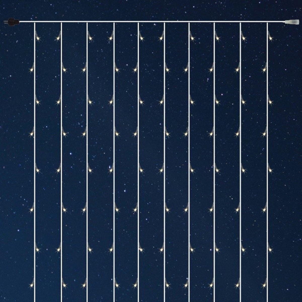 FDL Lichtgordijn verlichting met 160 MICRO-LED lampjes 1x1,5m warm-wit kopen