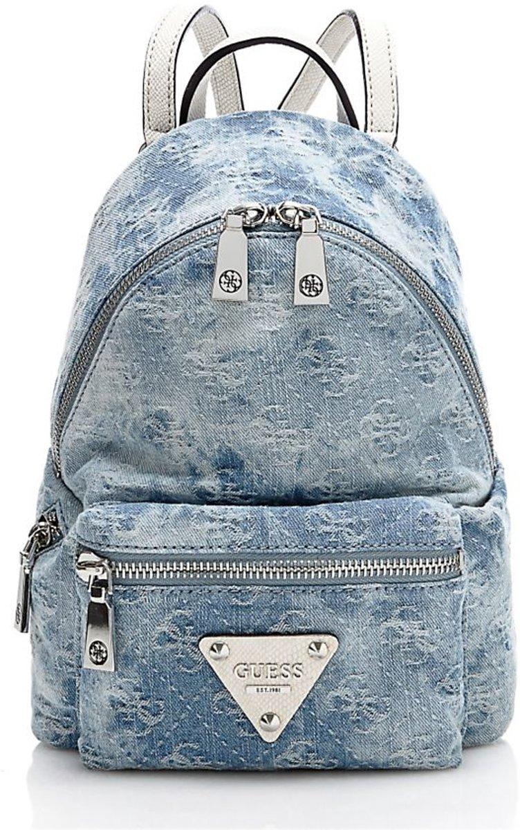 | Guess Tas Leeza Small backpack Blue Denim