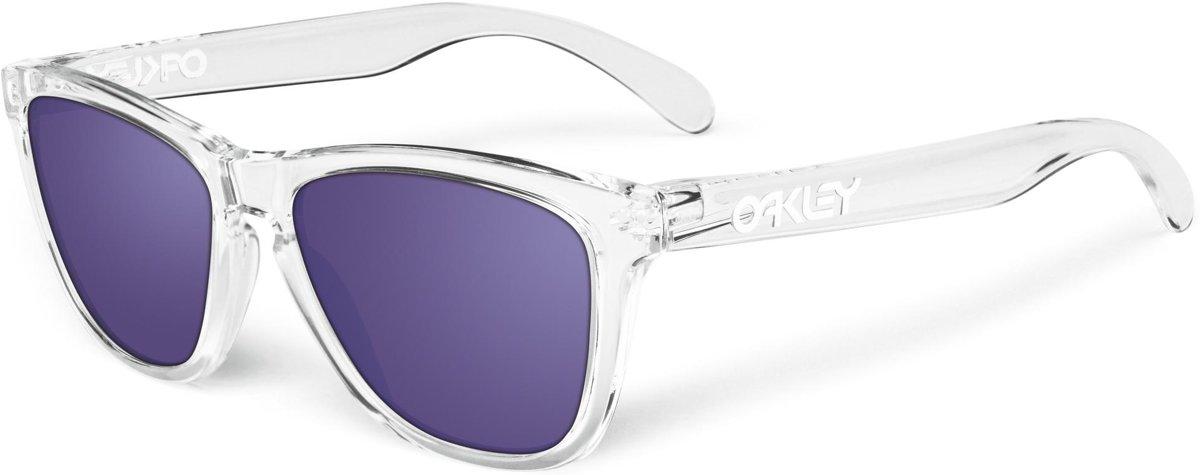 Oakley Frogskins - Zonnebril - Wayfarer - Polished Clear Frame / Violet Iridium Lens kopen