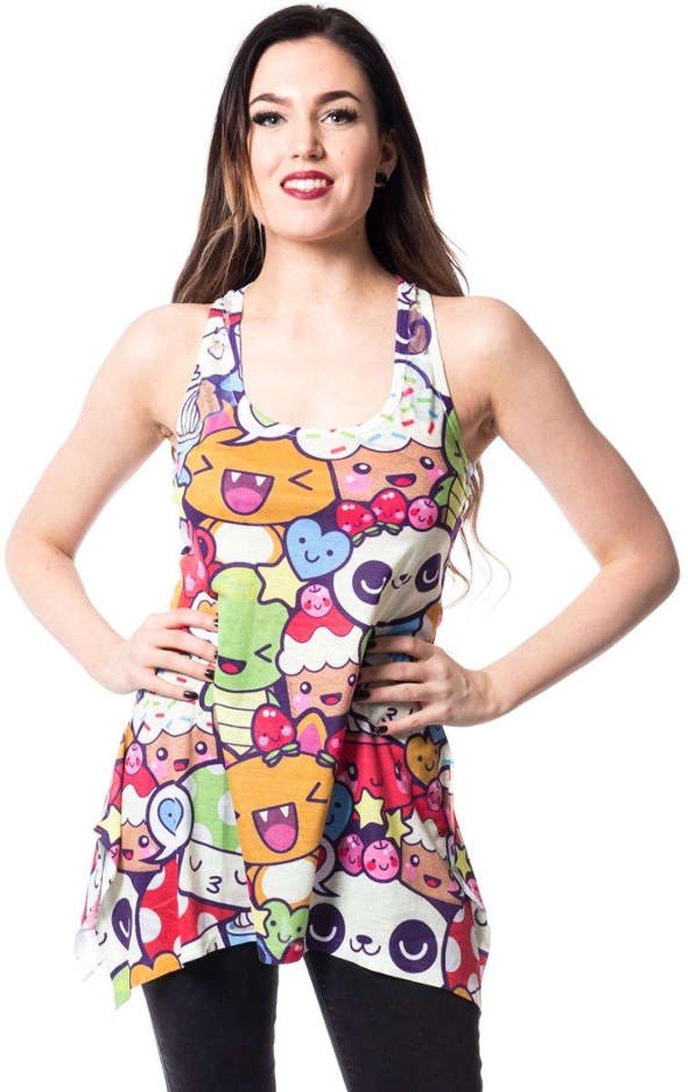 Cartoon lange top multicolours - Kawaii - XL - Innocent Clothing