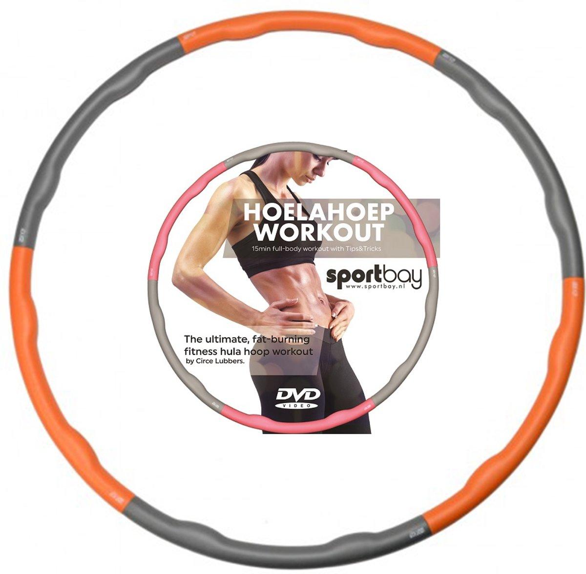 Hoelahoep 1.5 kg + Workout DVD oranje/grijs kopen
