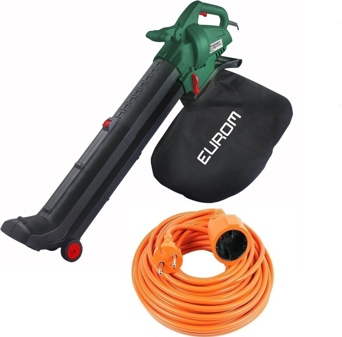 Eurom bladblazer set | Eurom EBR2800 bladblazer -met zuigfunctie - 2800 watt - opvangzak 45 l met 10 meter verlengsnoer kopen