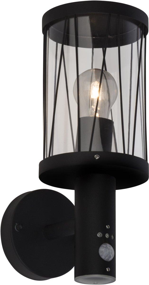 Brilliant REED Wandlamp 1x40W Zwart IP44 kopen