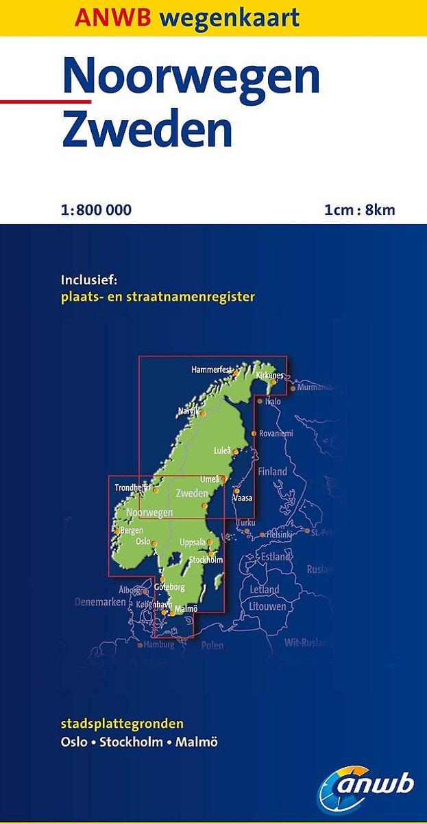 Bol Com Anwb Wegenkaart Noorwegen Zweden
