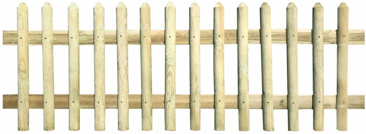 Hek 170x60 cm 5/7 cm FSC geïmpregneerd grenenhout (incl. Werkhandschoenen)