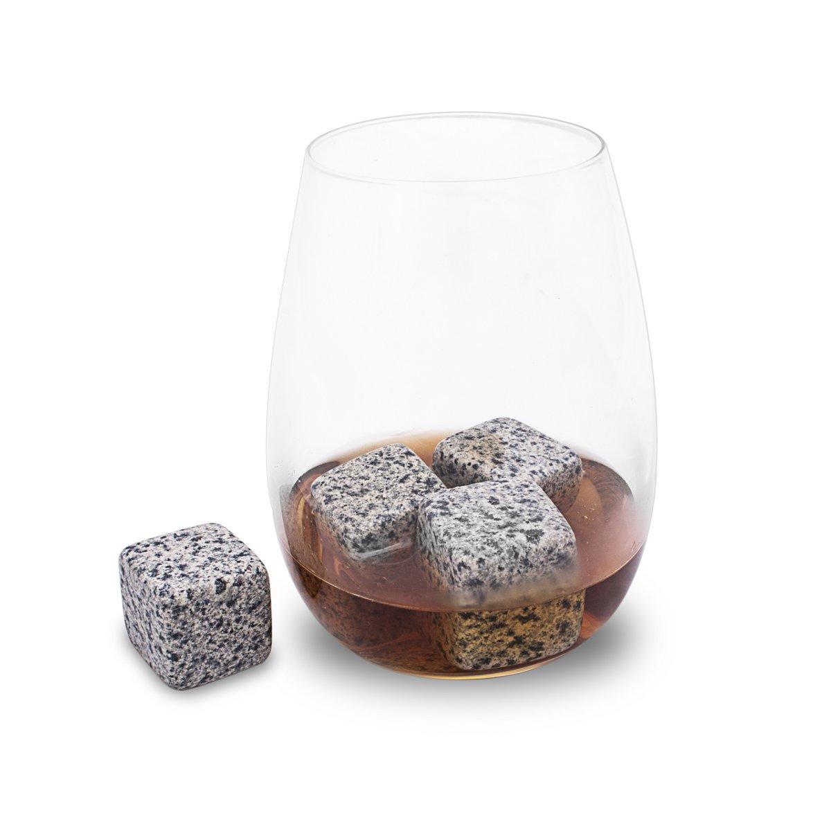 IJsblokvervanger graniet whiskeystones - Scotch On The Rocks koeler - set 6 stuks kopen