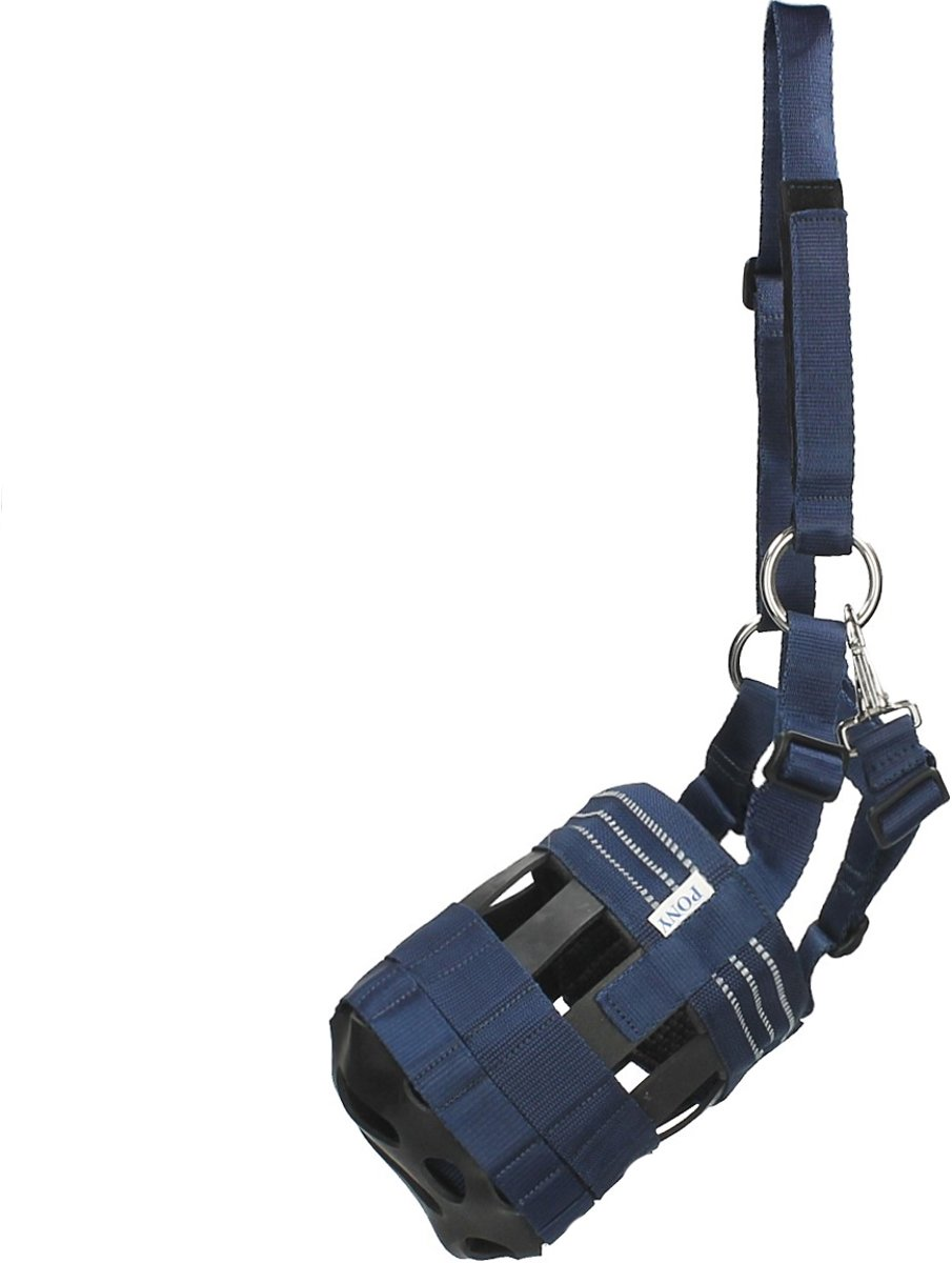 Epplejeck Graasmasker  Grazz - Dark Blue - pony kopen