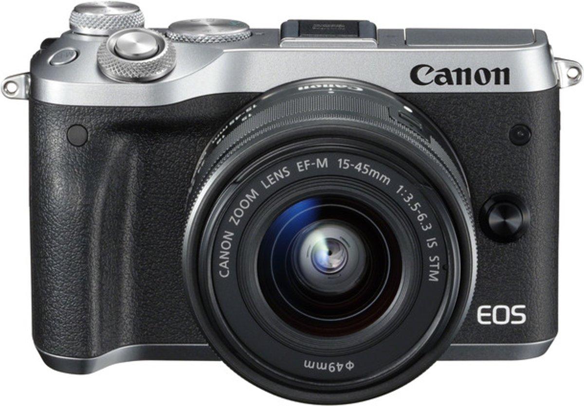 CANON EOS M6 Zilver + 15-45mm + 55-200mm kopen