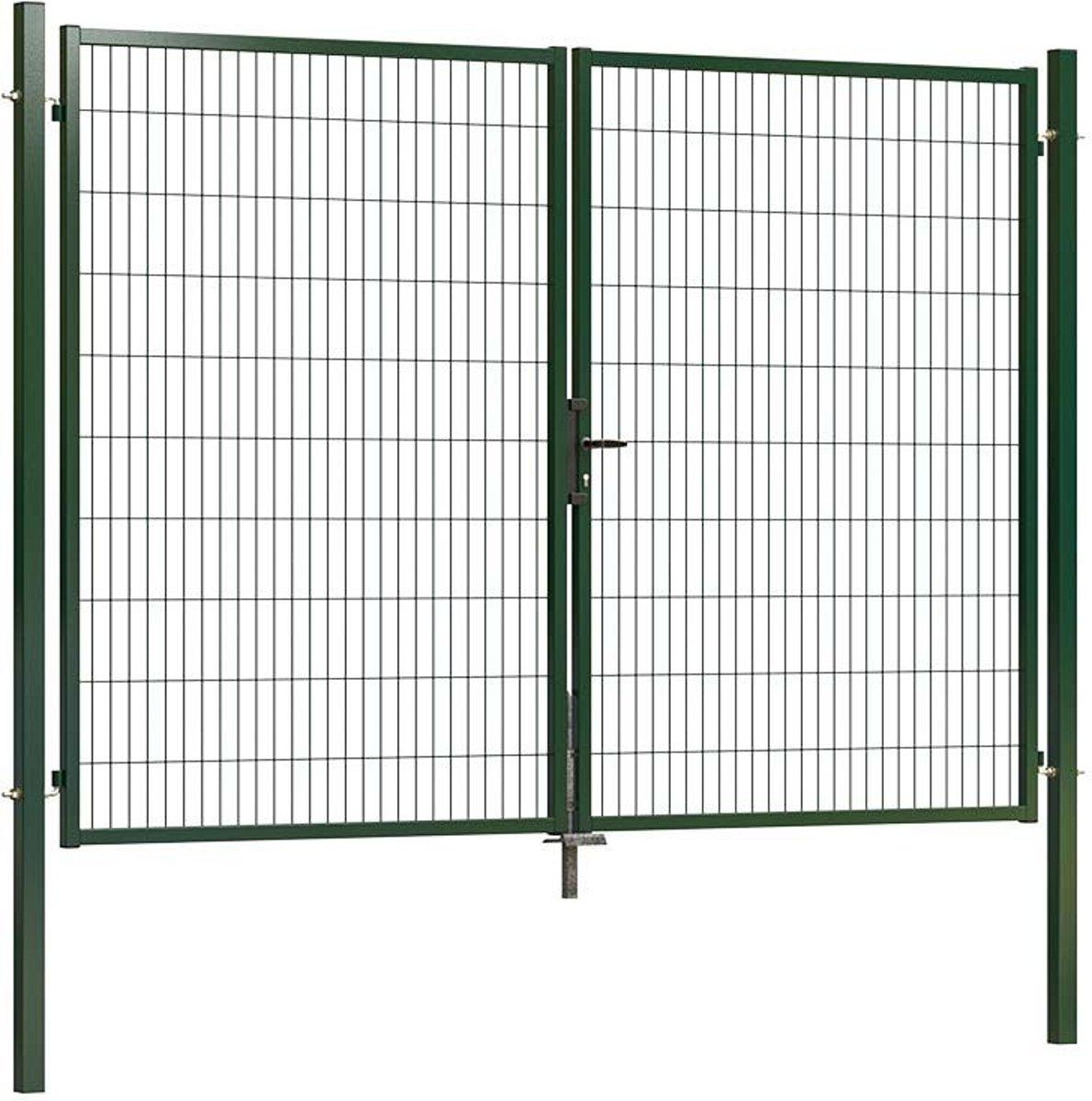 Dubbele tuinpoort ECO 300 x 200 cm (bxh) groen RAL6009 kopen