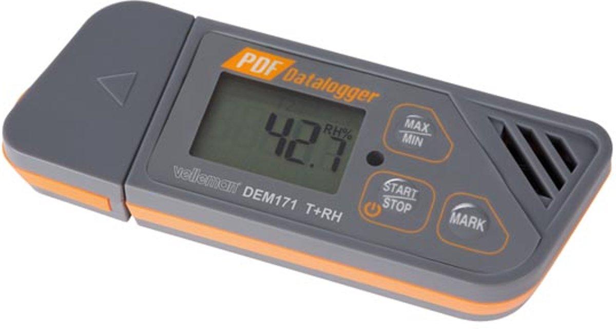 DATALOGGER VOOR TEMPERATUUR EN VOCHTIGHEIDSGRAAD MET USB-UITGANG (plug & play) kopen
