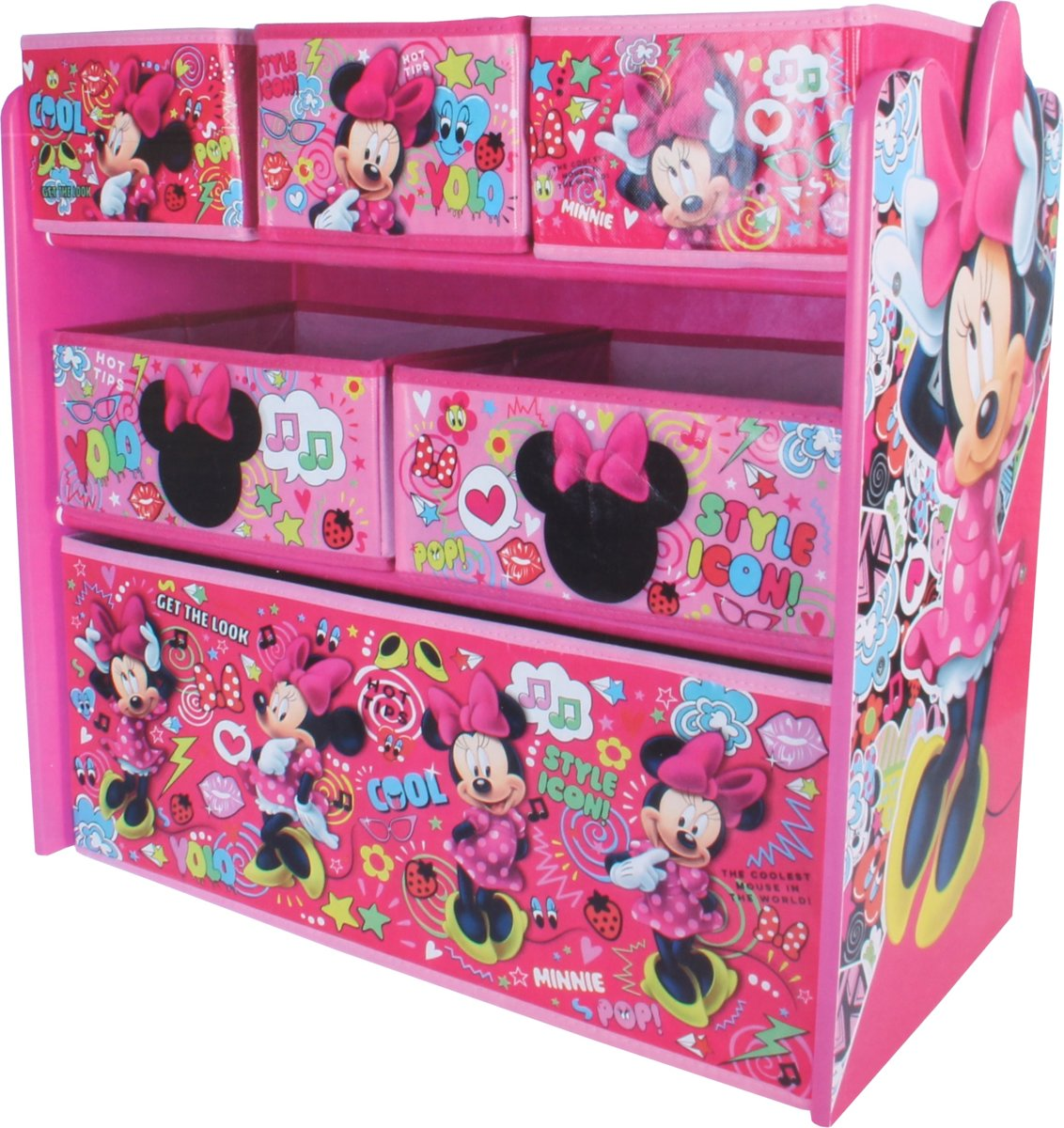 Global Industry Opbergkast 6 Lades Minnie Mouse 62 Cm Roze