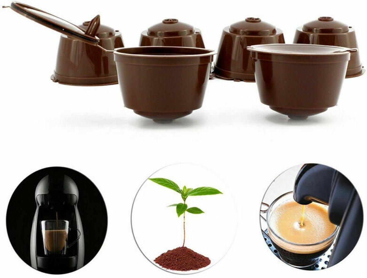 5x Hervulbare Koffie Cups Voor Nescafé Dolce Gusto - Koffiecups Capsule Pads - Herbruikbare Koffiecapsules Pads - Hervulbaar - Met Gratis Maatlepel - Duurzaam kopen