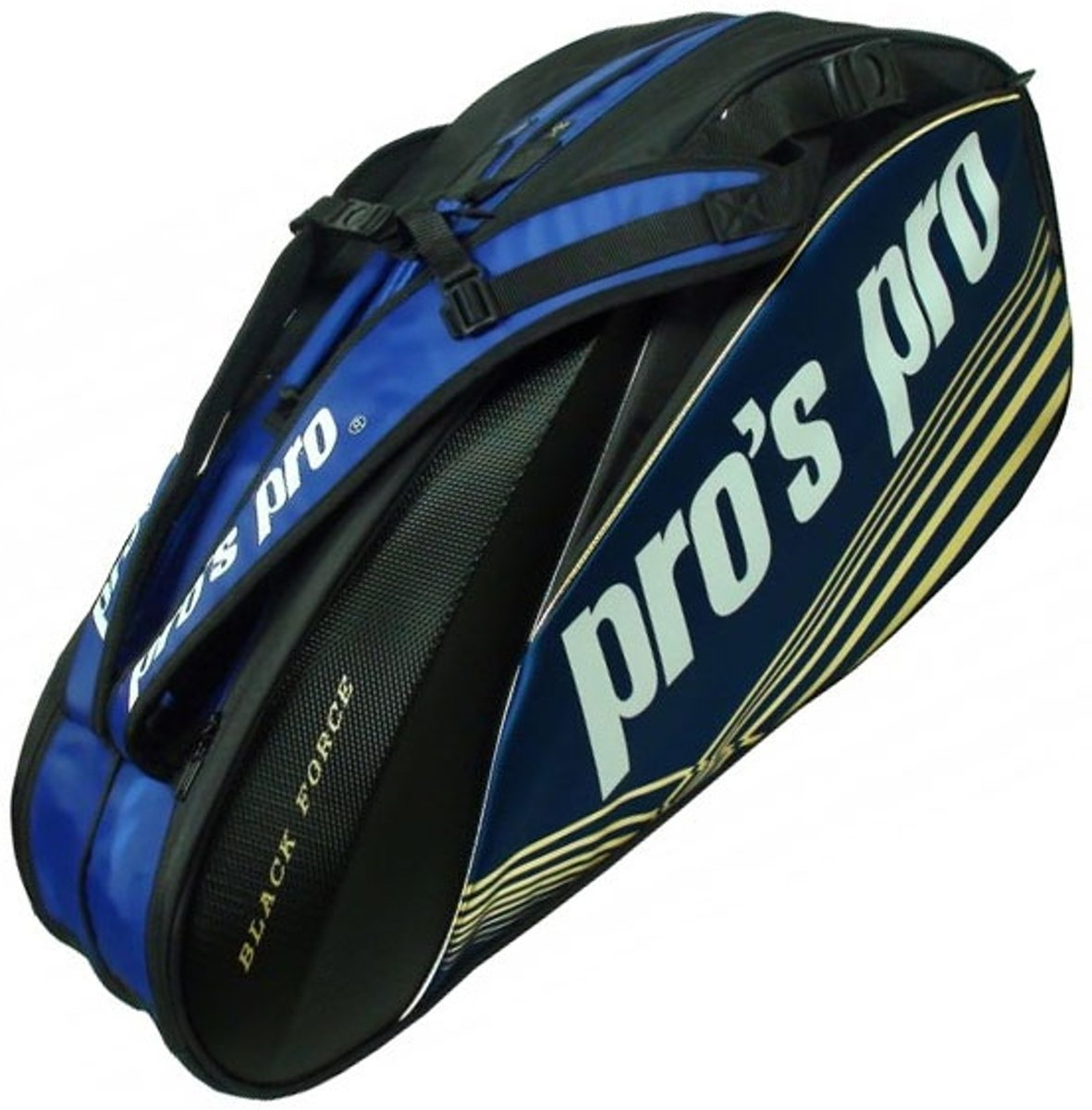 Pro's Pro Racketbag-8 Black Force blauw zwart kopen