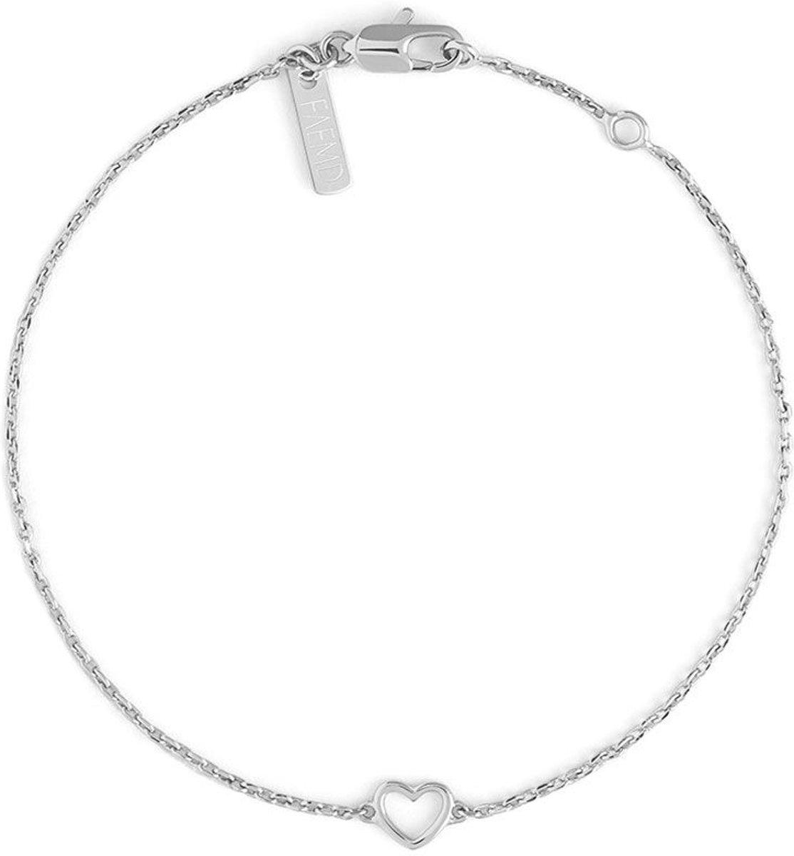 FAEMD Heart Bracelet - Dames - Armband - Zilver - Minimalistisch