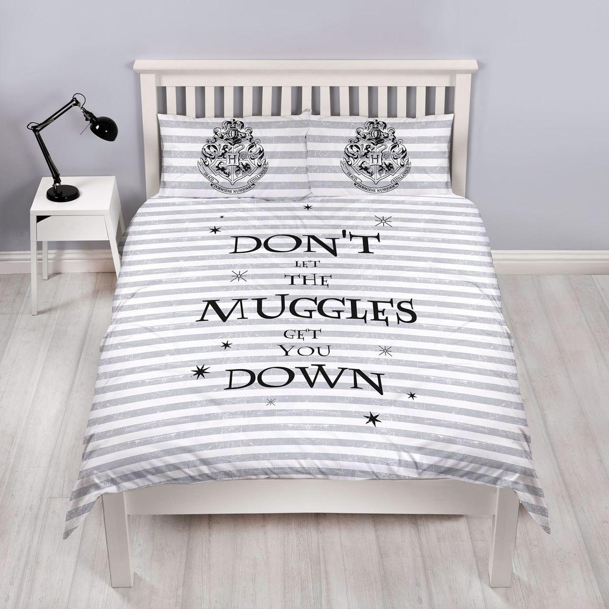 Harry Potter Spell - Dekbedovertrek - Tweepersoons - 200 x 200 cm -  Wit kopen