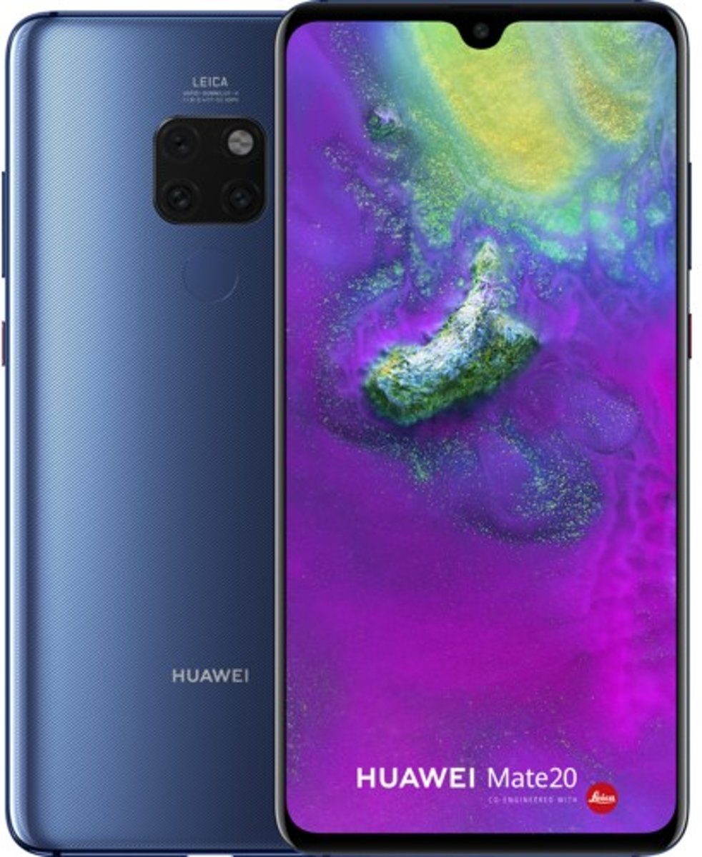 Huawei Mate 20 16,6 cm (6.53'') 4 GB 128 GB Hybride Dual SIM 4G Blauw 4000 mAh kopen