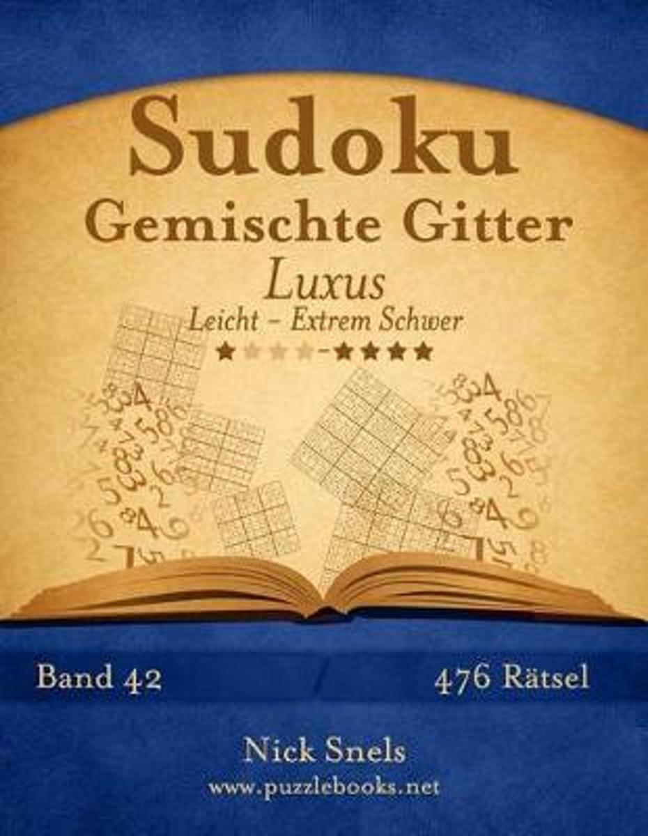 bol.com | Sudoku Gemischte Gitter Luxus - Leicht Bis Extrem Schwer ...
