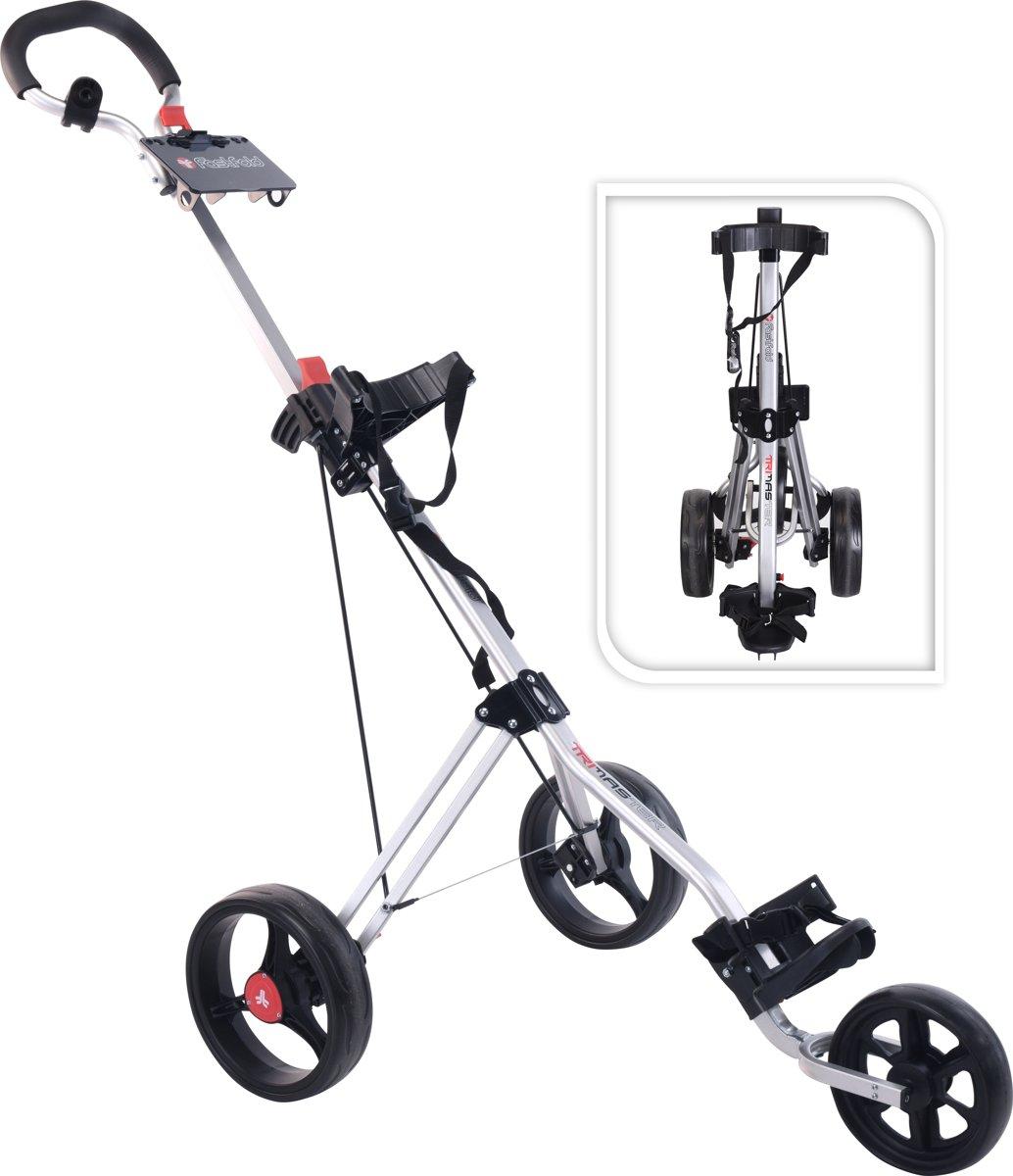 FastFold - Tri-master 3-wiel golftrolley - zilver kopen