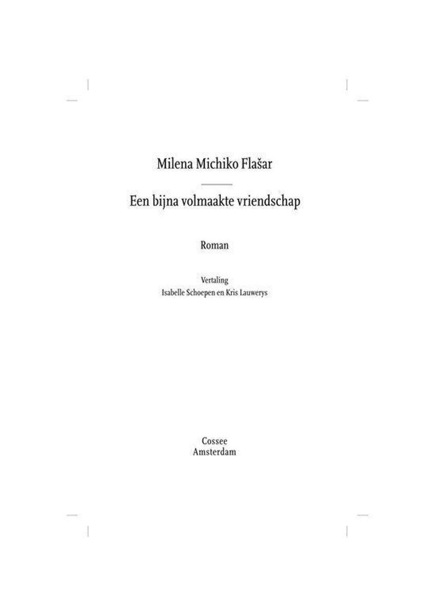Magnifiek bol.com   Een bijna volmaakte vriendschap, Milena Michiko Flasar #LT28