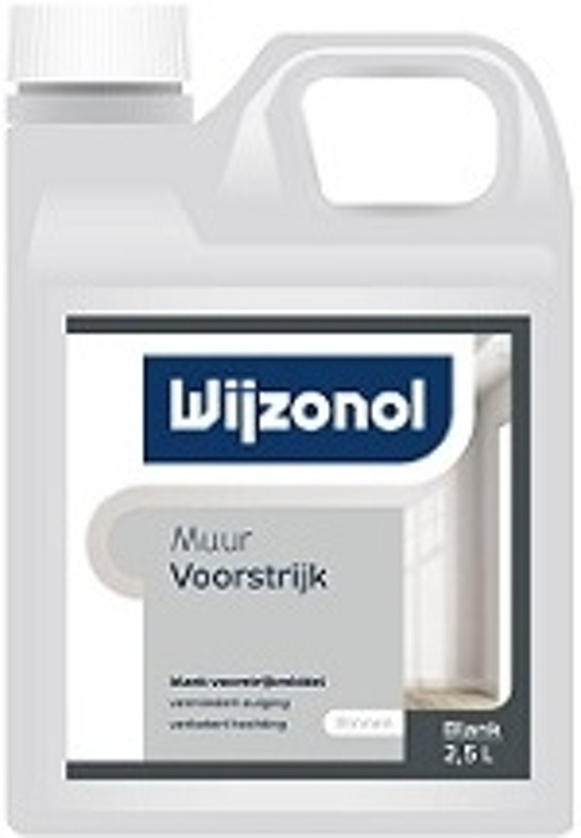Wijzonol Muurvoorstrijk RAL 9001 Cremewit 2,5 Liter kopen
