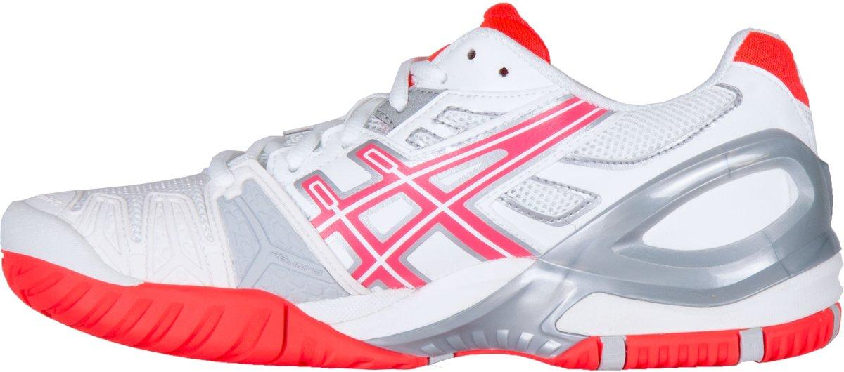 Asics Gel Resolution 5 Tennisschoenen Dames Sportschoenen Maat 40 Vrouwen witroodzilver
