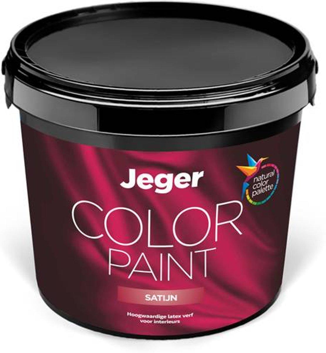 Jeger muurverf Satijn voor binnen | 10 liter | Kleur Zuiver wit (Reinwit) (RAL 9010) Zuiver wit (Reinwit) - 10L