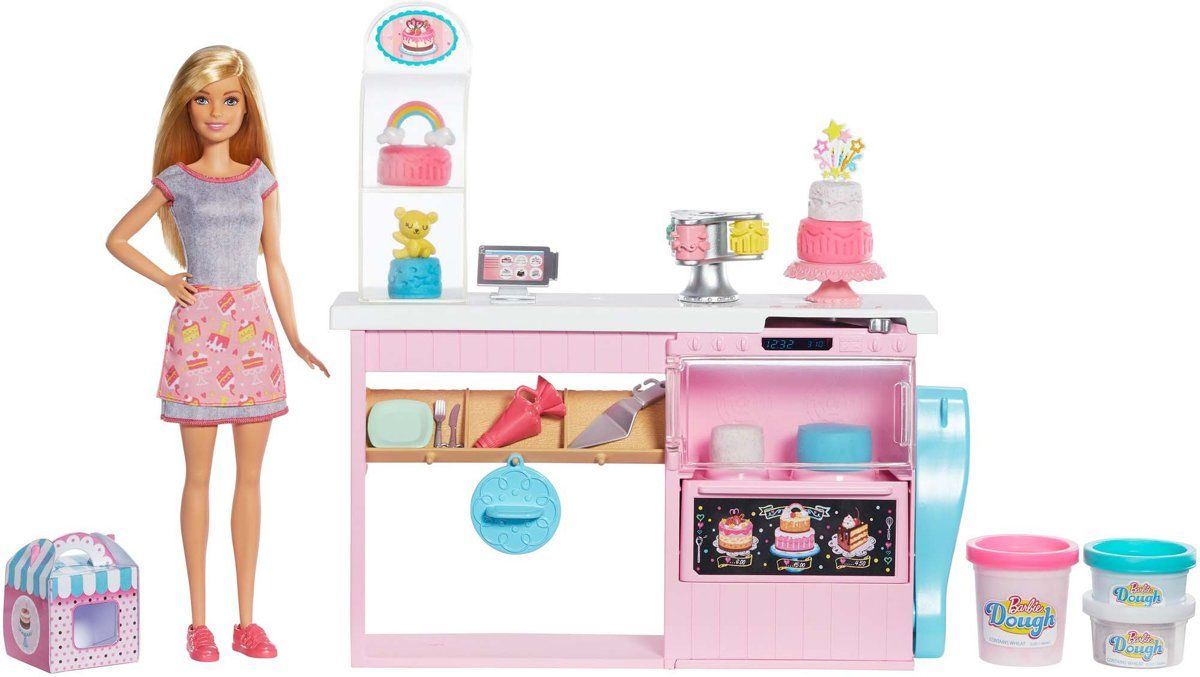 Barbie Bakker met Taartdecoratie Speelset - Barbiepop
