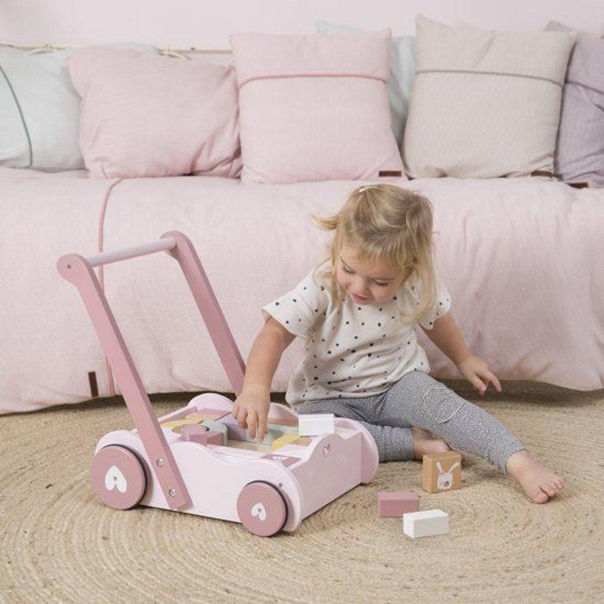 273054cac2c609 bol.com | Little Dutch Blokkenkar Adventure pink, Little Dutch | Speelgoed
