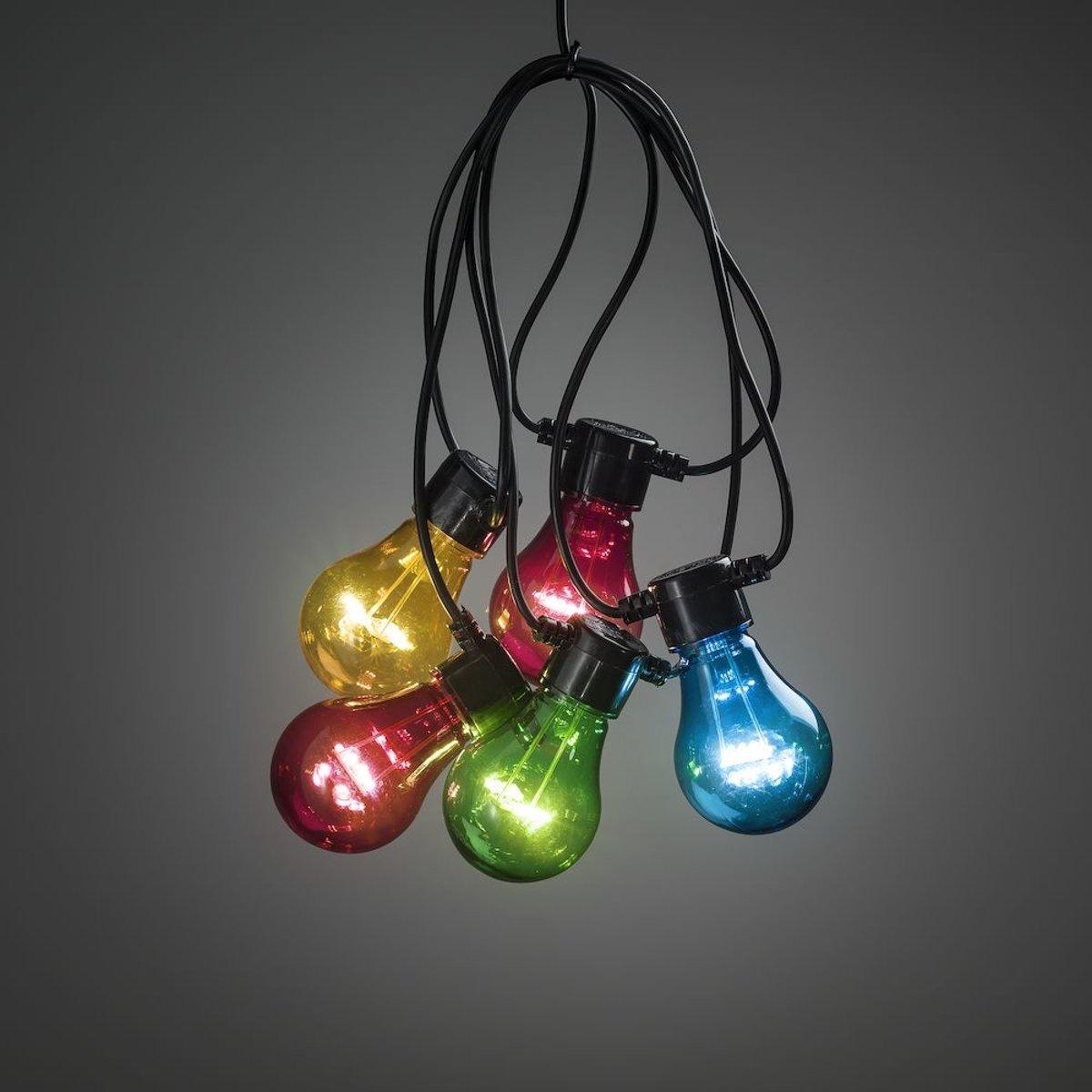Konstsmide 2396 - Feestverlichting  koppelbaar tot 40m - startsnoer 10 lamps transp 80 LED - 1000 cm - 24V - voor buiten - multicolor kopen