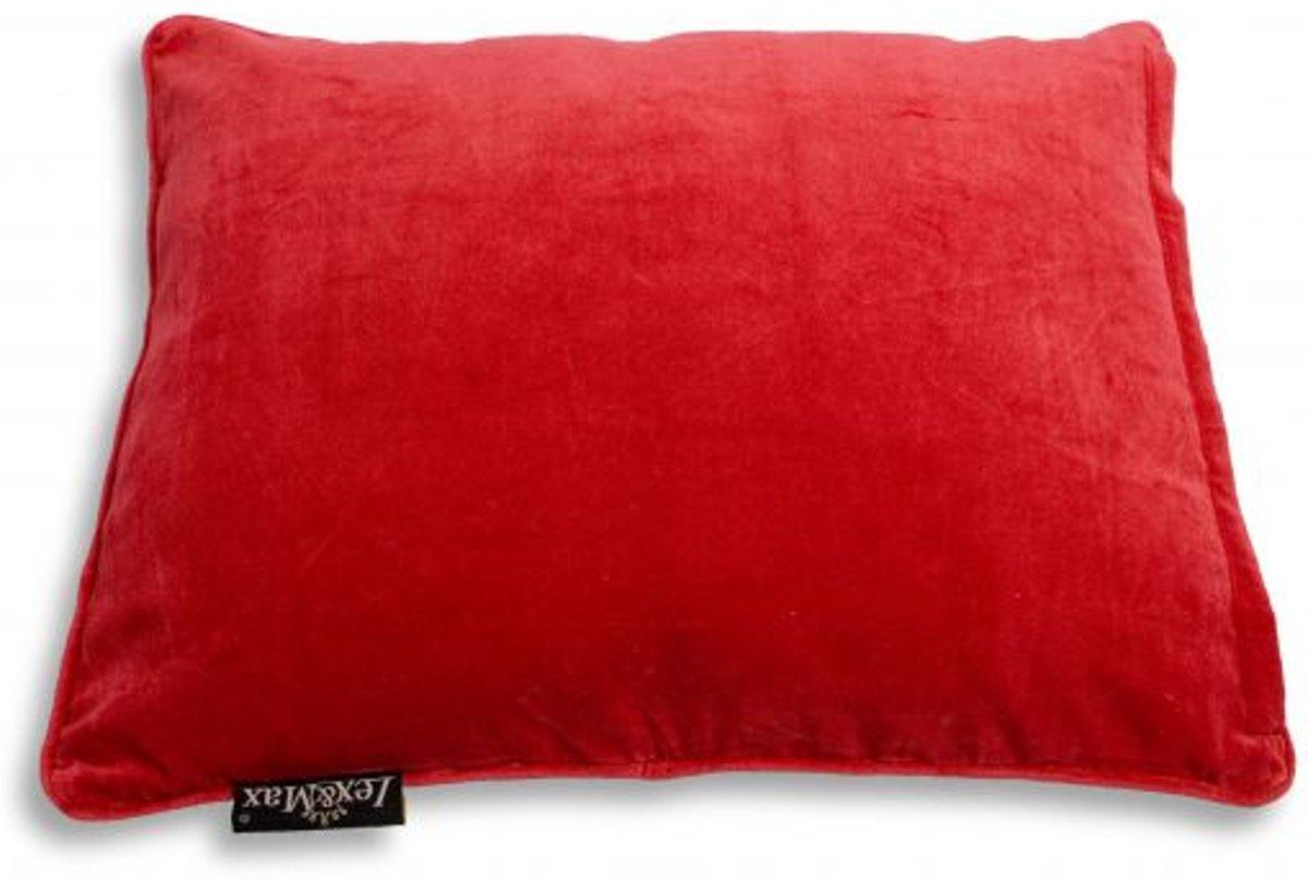 Lex & max emma kattenkussen rechthoek  60x45cm rood