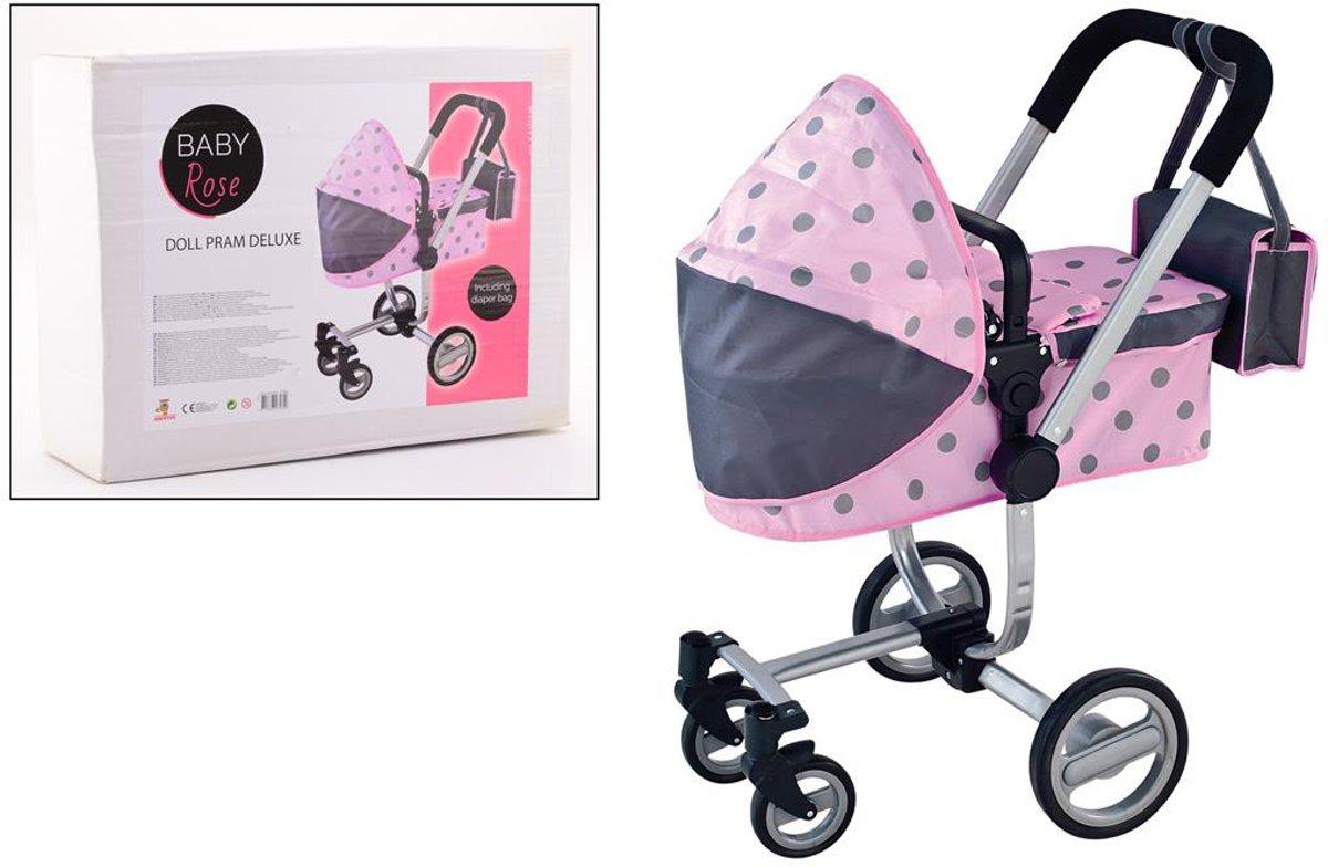 Baby Rose Poppenwagen met Luiertas