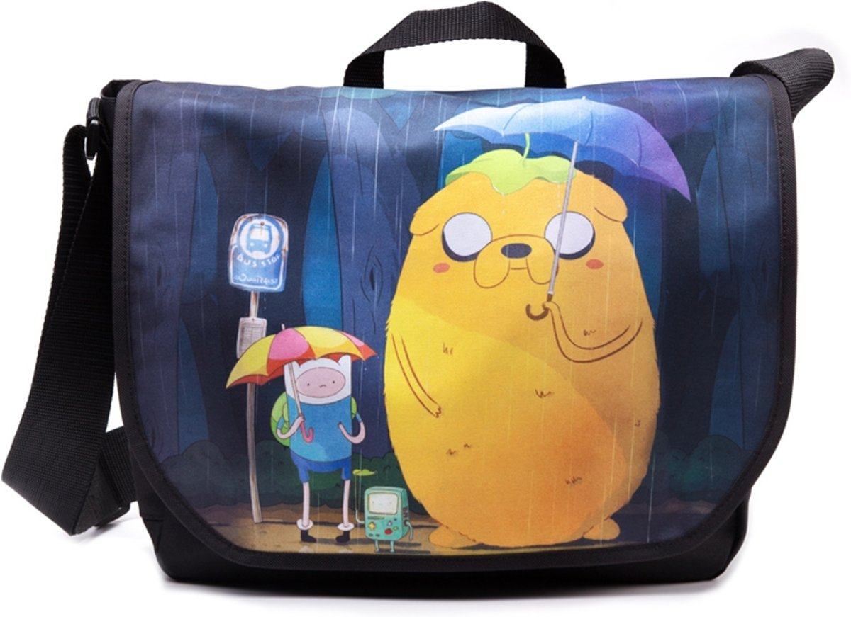 Adventure Time Finn & Jake Totoro schoudertas blauw One size Merchandise televisie