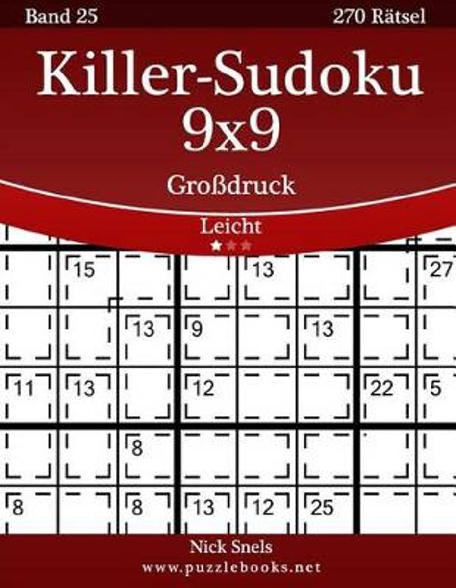 bol.com | Killer-Sudoku 9x9 Grodruck - Leicht - Band 25 - 270 Ratsel ...