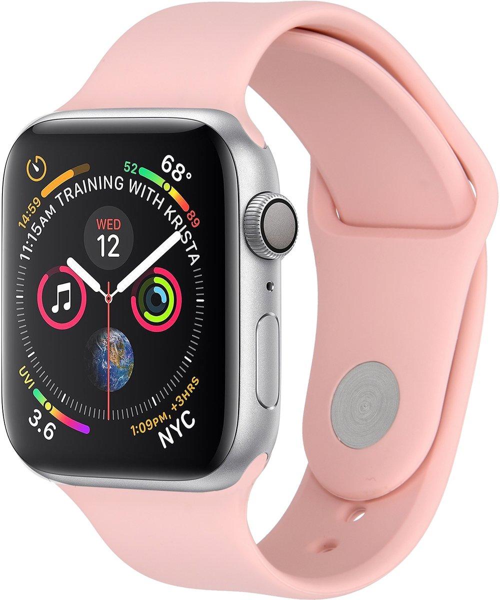 Roze siliconen sport bandje voor de Apple Watch 40 / 38 mm kopen