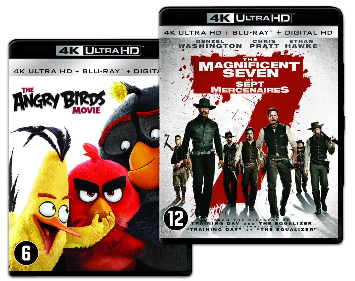 The Angry Birds Movie & The Magnificent Seven (4K Ultra HD Blu-ray)-
